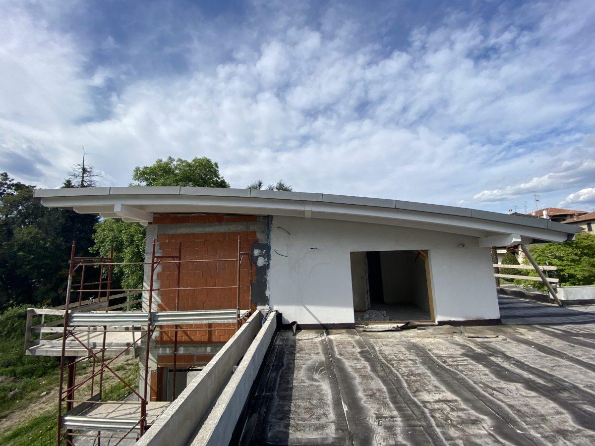 Villa Ranco - Curvatura tetto